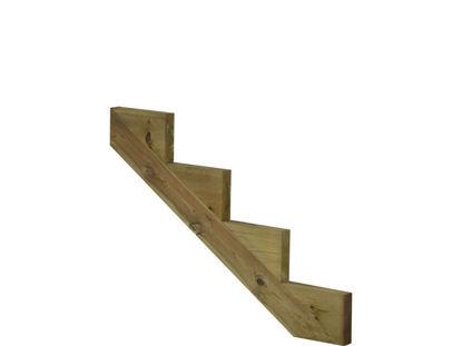 Plus Treppenwange 4-stufig Kiefer druckimprägniert 100 x 68 cm