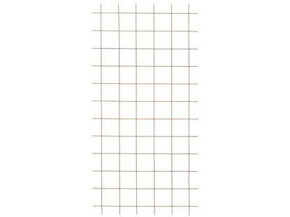 Plus Stahlspalier rostfarben ohne Rahmen schwarz 90 x 180 cm