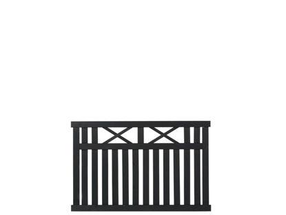 Plus Vinesse Zaun schwarz grundiert 150 x 96 cm