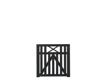 Plus Vinesse Einzeltor schwarz grundiert 100 x 98 cm