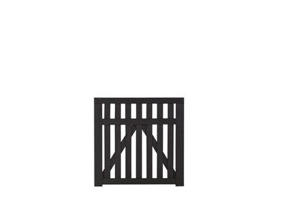 Plus Country Einzeltor schwarz grundiert 100 x 98 cm