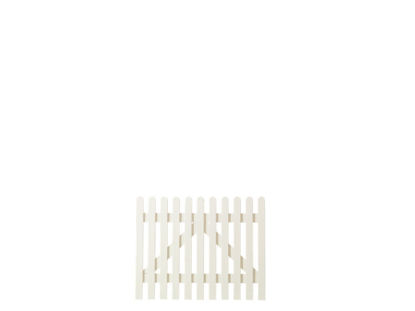 Plus Retro Einzeltor weiss grundiert 100 x 80 cm