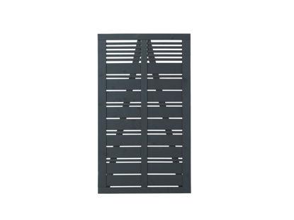 Plus Silence Einzeltor anthrazit grundiert 100 x 110 cm