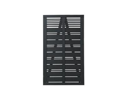 Plus Silence Einzeltor schwarz grundiert 100 x 170 cm Sichtschutz Gartentüre