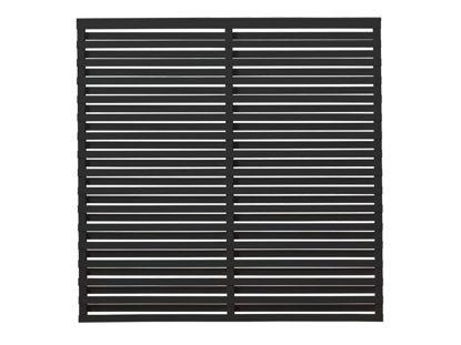 Plus Osaka Sichtschutzzaun Kiefer-Fichte schwarz 180 x 180 cm