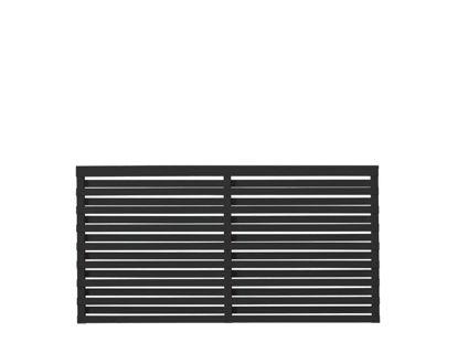 Plus Osaka Zaun Kiefer-Fichte schwarz 180 x 93 cm