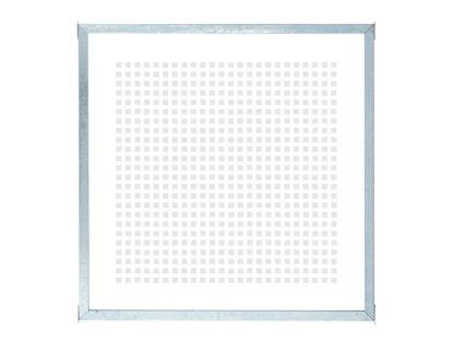 Plus Glaszaun mit Rahmen mit Siebdruck 90 x 90 cm