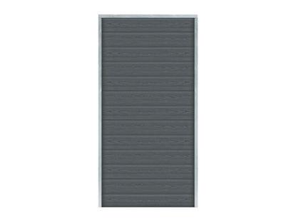 Plus Artura WPC Sichtschutz-Zaun 90 × 175 cm