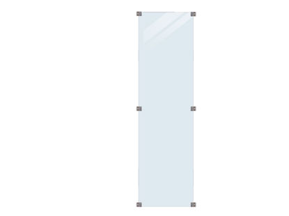 Plus hoher hoch Glaszaun Klarglas 55,4 x 176 cm