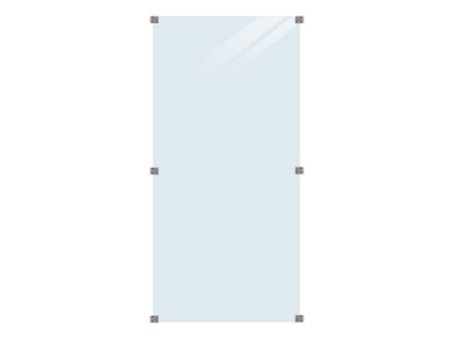 Plus Glaszaun Klarglas 90 x 180 cm