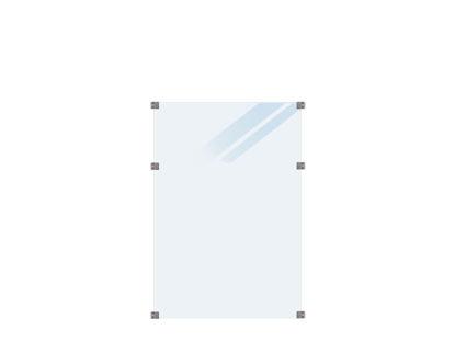 Plus Glaszaun satiniert 90 x 127 cm