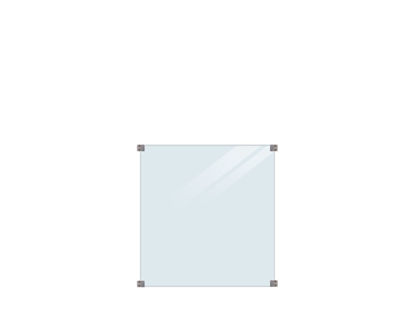 Plus Glaszaun Klarglas 90 x 91 cm