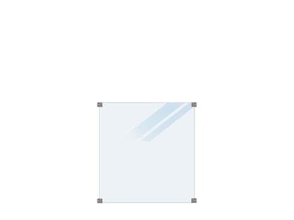 Plus Glaszaun satiniert 90 x 91 cm