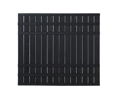 Plus Rustik Zaun schwarz grundiert 180 x 158 cm