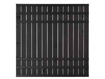 Plus Rustik Sichtschutzzaun schwarz grundiert 180 x 180 cm