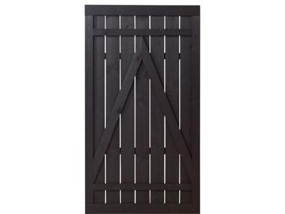 Plus Rustik Einzeltor schwarz grundiert 100 x 180 cm
