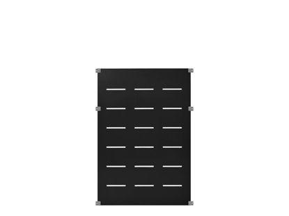 Plus Futura Deko Zaunelement Stahl grauschwarz 90 x 127 cm