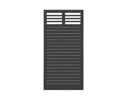 Plus Decora Sichtschutzelement schwarz grundiert 180 x 90 cm