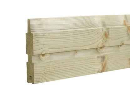 Plus Plank Profilbrett Kiefer-Fichte druckimprägniert 177  x 2,5 x 14 cm