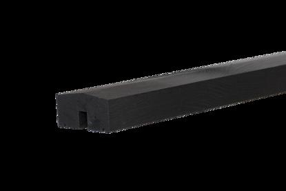Plus Klink - Plank mittleres Abschlussbrett schwarz Länge 174 cm