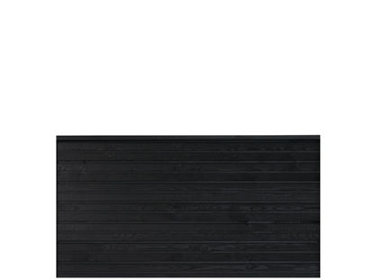 Plus Plank Profilzaun schwarz 174 x 91 cm