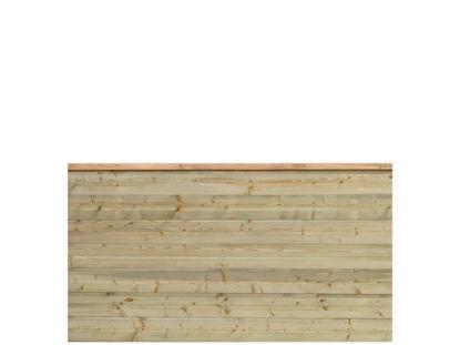 Plus Plank Profilzaun mit Abschluss-Brett druckimprägniert 174 x 91 cm