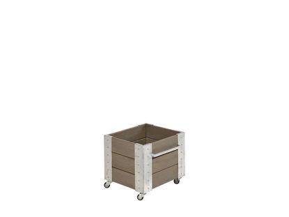 Plus Cubic rollender Blumenkasten 46 x 50 x 45 cm graubraun