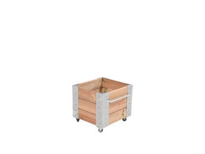 Plus Cubic rollender Blumenkasten 46 x 50 x 45 cm Lärche unbehandelt