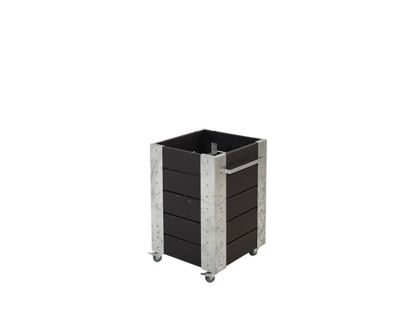 Plus Cubic rollender Blumenkasten 46 x 50 x 70 cm schwarz