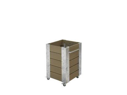 Plus Cubic rollender Blumenkasten 46 x 50 x 70 cm graubraun