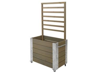 Plus Cubic rollender Raumteiler Rankkasten 87 x 50 x 155 cm graubraun