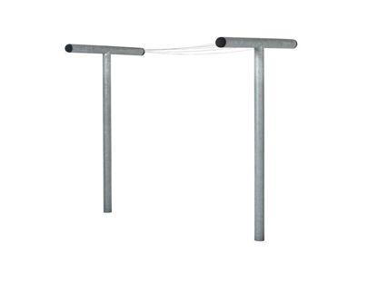 Plus Pipe Trockengestell Stahl verzinkt mit Stahlleine kunststoffummantelt 290 cm x d=10 cm