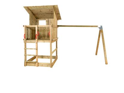 Plus Play Spielturm mit Dach, Schaukelbalken 460 x 395 x 283 cm