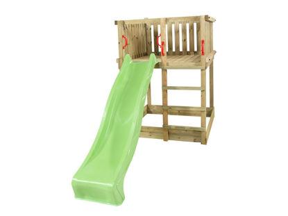 Plus Play Spielturm mit grüner Rutsche 350 x 132 x 200 cm