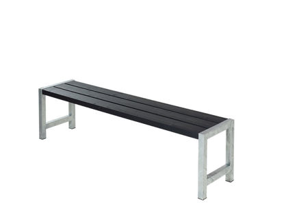 Plus Plankenbank 176 cm schwarz