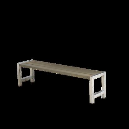Plus Plankenbank 176 cm graubraun