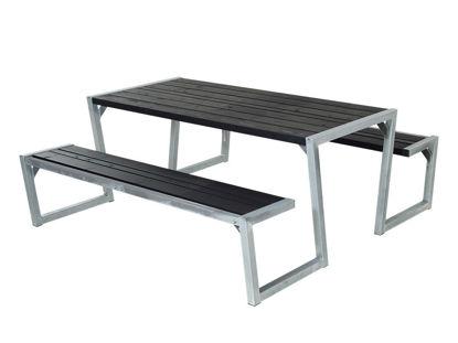 Plus Zigma Kombimöbel Kiefer-Fichte schwarz 176 cm