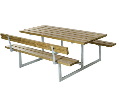 Plus Basic Kombimöbel mit 1 Rückenlehne Kiefer-Fichte druckimprägniert 177 x 172 cm