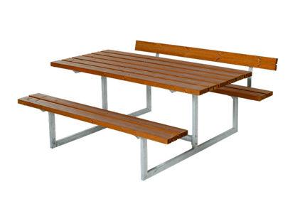Plus Basic Kombimöbel mit 1 Rückenlehne teakfarben 177 x 172 x 73 cm