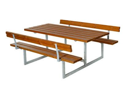 Plus Basic Kombimöbel mit 2 Rückenlehnen teakfarben 177 x 184 x 73 cm