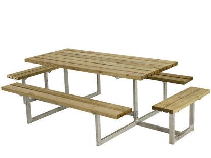 Plus Basic Kombimöbel mit 2 Anbausätzen Kiefer-Fichte druckimprägniert 260 x 160 cm