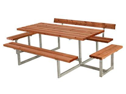 Plus Basic Kombimöbel mit 1 Rückenlehne + 2 Ergänzungen teakfarben 260 x 172 x 73 cm