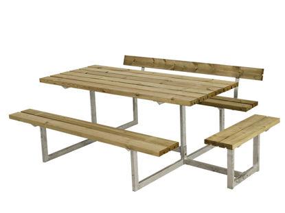 Plus Basic Kombimöbel mit 1 Anbausatz und 1 Rückenlehne Kiefer-Fichte druckimprägniert 219 x 172 cm
