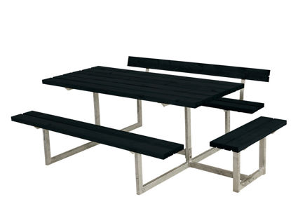 Plus Basic Kombimöbel mit 1 Anbausatz und 1 Rückenlehne Kiefer-Fichte schwarz 219 x 172 cm