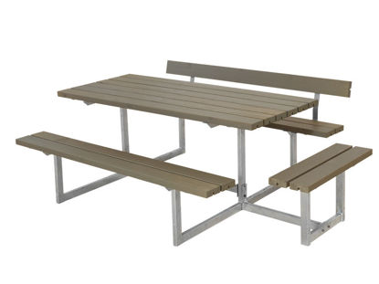 Plus Basic Kombimöbel mit 1 Anbausatz und 1 Rückenlehne Kiefer-Fichte graubraun 219 x 172 cm