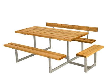 Plus Basic Kombimöbel mit 1 Anbausatz und 1 Rückenlehne Lärche unbehandelt 219 x 172 cm