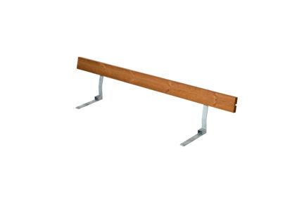 Plus Rückenlehne Kiefer-Fichte teakfarben für Plankenbank mit Beschlag 177 cm