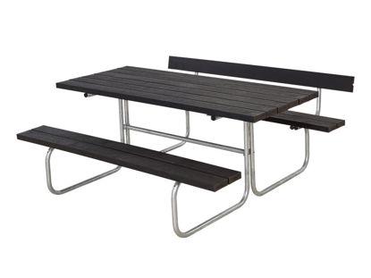 Plus Classic Kombimöbel mit 1 Rückenlehne Recycling Kunststoff schwarz 177 x 166 cm