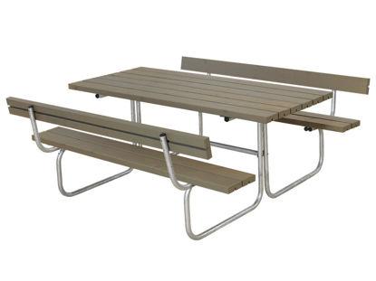 Plus Classic Kombimöbel mit 2 Rückenlehnen Kiefer-Fichte graubraun 177 x 177 cm