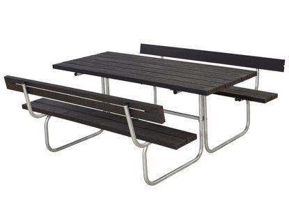 Plus Classic Kombimöbel mit 2 Rückenlehnen Kunststoff schwarz 177 x 177 cm